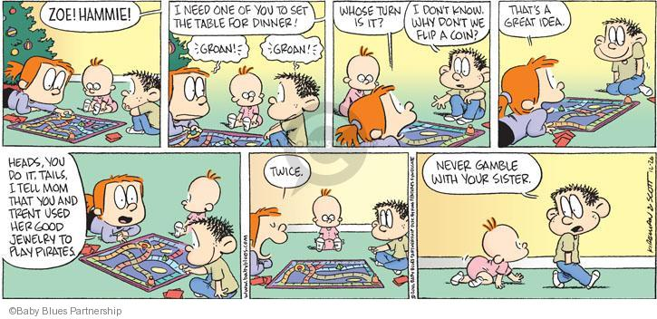 Baby blues table comic strips the comic strips