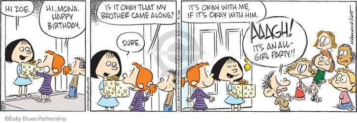 Baby blues birthday party comic strips the comic strips