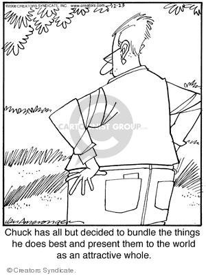 Chuck has all but decided to bundle the things he does best and present them to the world as an attractive whole.