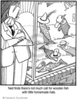 Comic Strip Jerry Van Amerongen  Ballard Street 2008-03-03 fish