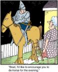 Comic Strip Jerry Van Amerongen  Ballard Street 2012-04-27 horse