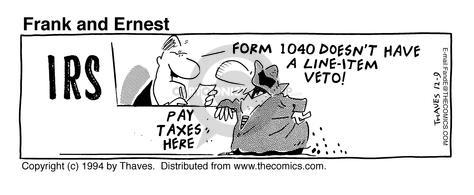IRS. Pay Taxes Here. Form 1040 doesnt have a line-item veto!