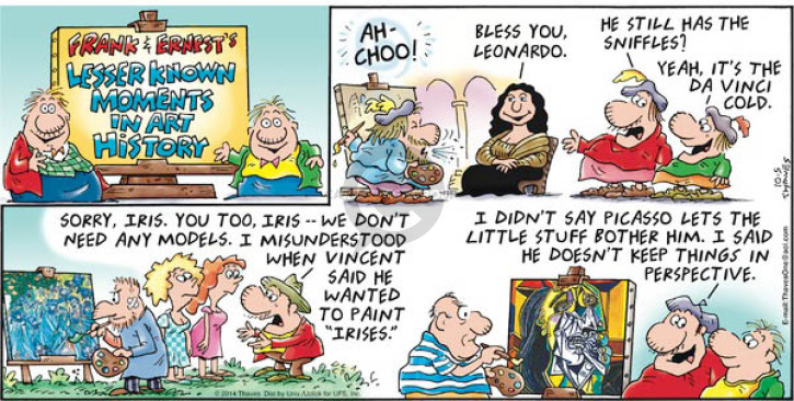 Frank And Ernest Vincent Van Gogh Comic Strips The Comic Strips