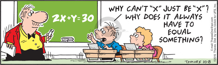 strips to Comic math related