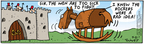 Comic Strip Bob Thaves Tom Thaves  Frank and Ernest 2004-09-21 Trojan horse