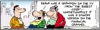 Comic Strip Bob Thaves Tom Thaves  Frank and Ernest 2009-04-10 financial loss