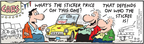 Comic Strip Bob Thaves Tom Thaves  Frank and Ernest 2009-08-15 automotive
