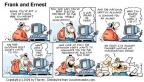 Comic Strip Bob Thaves Tom Thaves  Frank and Ernest 2000-02-13 computer