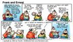 Comic Strip Bob Thaves Tom Thaves  Frank and Ernest 2000-03-19 yeah