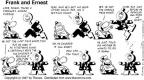 Comic Strip Bob Thaves Tom Thaves  Frank and Ernest 1997-04-06 yeah