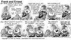 Comic Strip Bob Thaves Tom Thaves  Frank and Ernest 1997-09-07 wolf