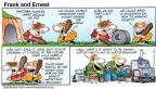Comic Strip Bob Thaves Tom Thaves  Frank and Ernest 1998-03-01 future