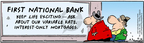 Comic Strip Bob Thaves Tom Thaves  Frank and Ernest 2005-09-06 bank loan