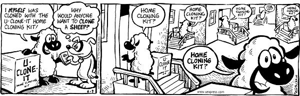 Cloning comic strips