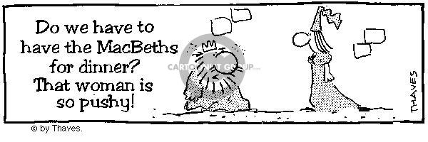 Comic strip of king tut