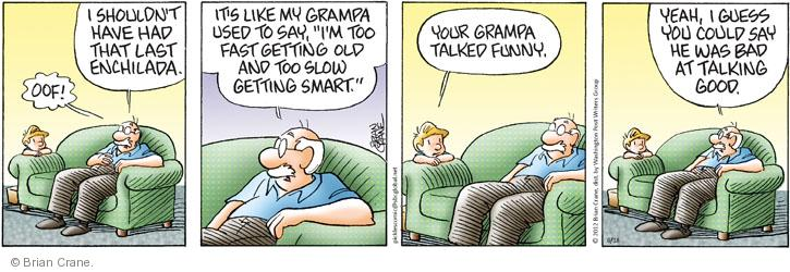 Comics strips on getting old