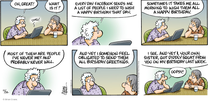 The Happy Birthday Comic Strips – Comic Birthday Greetings