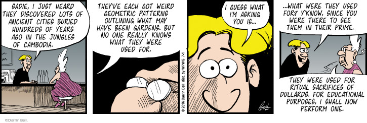 Geometric comic strip