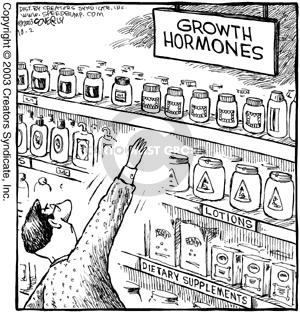 Growth Hormones.  Lotions.  Dietary Supplements.