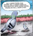 Comic Strip Dave Coverly  Speed Bump 2011-11-29 carrier