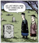 Comic Strip Dave Coverly  Speed Bump 2013-12-21 grave