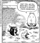 Comic Strip Dave Coverly  Speed Bump 2008-08-02 helmet safety