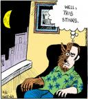 Comic Strip John Deering  Strange Brew 2012-03-05 half-full