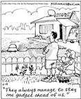 Comic Strip Mike Twohy  That's Life 2003-04-19 lawn